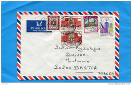 MARCOPHILIE-Lettre LIBYE->Françe+cad  1973-5-stamps N°462 Foire De Tripoli+467 Jiournée Des Aveugles - Libyen