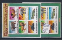 BURUNDI  1991 ISSUE ANIMALS COB BL127/127A MNH