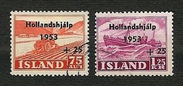 ISLAND 1953 - Flooding Netherlands - Mi:IS 285-286 - Usati
