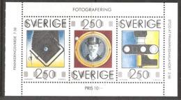Sweden Sverige 1990 Photografi, Camera, August Strindberg (1849-1912)  Mi 1630-1632 From Booklet MH  154, MNH(**)