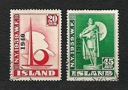 "ISLAND 1940 - World's Fair, New York With Overprint ""1940"" - Mi:IS 218-220 - 1918-1944 Amministrazione Autonoma"