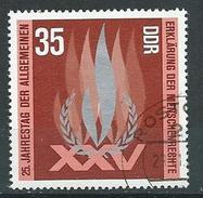DDR  1973  Mi 1898  25. Jahrestag Der Erklörung Der Menschenrechte  Gestempelt