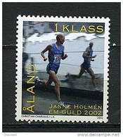 Aland** N° 213 - Hommage à Janne Holmen, Médaillé D'or