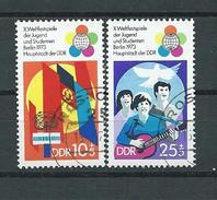 DDR  1973  Mi 1829 - 1830  Weltfestspiele  Gestempelt