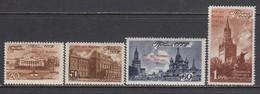 USSR 1947 - 800 Jahre Moskau, Marken Mit Aufdruck, Mi-Nr. 1121/24, MNH**