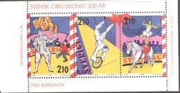 Sweden Sverige 1987 Europa: Circus  Mi 1450-1452 In HBlatt 161 From Booklet MH  124, MNH(**)