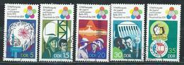 DDR  1973  Mi 1862 - 1866  Weltfestspiele  Gestempelt