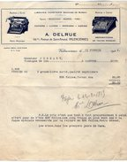 VP9162 - Facture - Librairie - Papeterie Machines De Bureau A. DELRUE à VALENCIENNES - Imprimerie & Papeterie