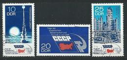 DDR  1973  Mi 1887 - 1889  Tag Der Sowjetischen Wissenschaft Und Technik   Gestempelt