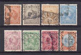 NETHERLANDS INDIES 1892/97 Queen Wilhelmina Complete Set Used