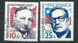 DDR  1973  Mi 1890 - 1891  Solidarität Mit Chile  Gestempelt
