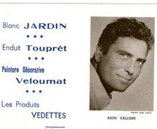 (12) Calendrier 1961 Raph Vallone  Produit Vedettes (bon Etat) - Petit Format : 1961-70