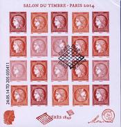F 4871 BLOC CERES SALON Du TIMBRE 1er JOUR ANNEE 2014 - Blocs & Feuillets