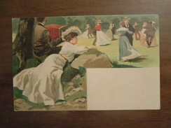 Cartolina Liberty 1899  Illustratore Firmata R. MAHN - Illustratori & Fotografie