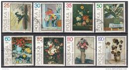 2940 Polonia 1989 Polska Dipinti Del Museo Nazionale Di Varsavia Tableaux Painting Flowers Fiori Still-life