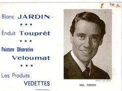 (12) Calendrier 1961 Mel Ferrer  Produit Vedettes (bon Etat) - Tamaño Pequeño : 1961-70