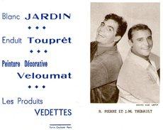(12) Calendrier 1961 R Pierre Et J M Thibault  Produit Vedettes (bon Etat) - Tamaño Pequeño : 1961-70