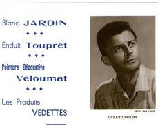 (12) Calendrier 1961 Gerard Philipe  Produit Vedettes (bon Etat) - Tamaño Pequeño : 1961-70