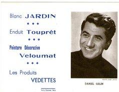 (12) Calendrier 1961 Daniel Gelin  Produit Vedettes (bon Etat) - Petit Format : 1961-70
