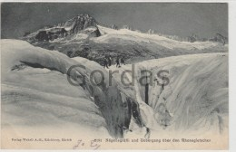 Switzerland - Rhonegletscher - Hotel Kreuz & Post Fluelen - Werbung - Alpinisme