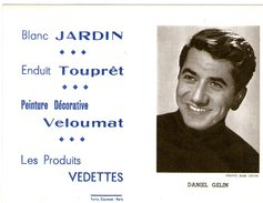 (12) Calendrier 1961 Daniel Gelin  Produit Vedettes (bon Etat) - Tamaño Pequeño : 1961-70