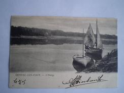 Genval Les Eaux (Rixensart) L'Etang (Boot) RARE CARTE // Used 1905 Ed.A.S.Genval - Rixensart