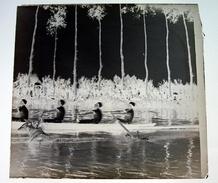 Regates Au Patis Abbeville - Négatif Sur Plaque De Verre 6X6,5cm Bien Lire Descriptif - Glass Slides