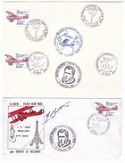 France Lettre Autographe Original Bellonte Maurice Cachet Commemoratif 1980 1er Raid Traversée Atlantique 1930 Costes - Poste Aérienne