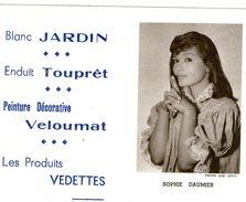 (12) Calendrier 1961 Sophie Daumier  Produit Vedettes (bon Etat) - Petit Format : 1961-70