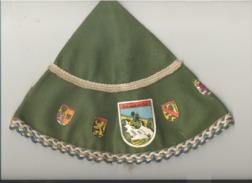 Bonnet Souvenir De La Cascade De Coo En Feutrine Avec Les Blasons Des 9 Provinces Belges - Casquettes & Bobs