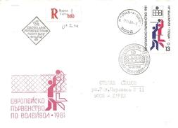 1981 Championnat D'Europe De Volley Ball Sofia (Bulgarie) Recommandée