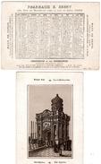 (12) Calendrier 1888 1er Semestre  Saint Sepulcre Israel  Pharmacie E .Emery Paris  (bon Etat) - Calendriers