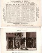 (12) Calendrier 1888 1er Semestre  Eglise De La Nativité Israel  Pharmacie E .Emery Paris  (bon Etat) - Calendriers