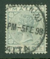 Malta: 1885/90   QV   SG23    2d    Used - Malta (...-1964)
