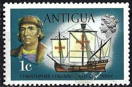 "Antigua 1970 - Christopher Columbus & The Caravel ""Nina"" ( Mi 231x - YT 233 ) MH* - Christophe Colomb"