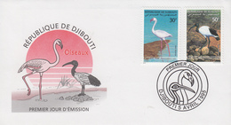 Enveloppe  FDC  1er  Jour   DJIBOUTI    Oiseaux  :  Flamant  Rose  Et  Ibis  Sacré   1995
