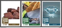 SIERRA LEONE 2016 - Minerals, 3v