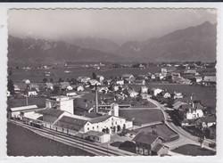 Vuadens, Vue Aérienne, Fabrique Guigoz, Gare GFM, Format 10,5 X 15 - FR Fribourg