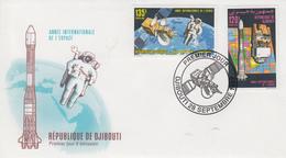 Enveloppe  FDC  1er  Jour   DJIBOUTI    Année  Internationale  De  L' Espace  1992