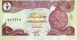 IRAK 1/2 DINAR 1993 P-78a NEUF MARRON & VERT ENREGISTREMENT RARE  [IQ335a] - Iraq