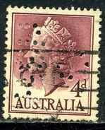 Australie Y&T 235 ° Perforé - 1952-65 Elizabeth II : Ed. Pré-décimales
