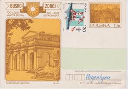 Poland Postal Stationery Busko Zroj - Marconi Sanatorium - 1987 - Entiers Postaux