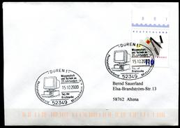"Germany 2000 Sonderbeleg Computertechnik Mit Mi.Nr.2148 U.SST""Düren-TAG DER BRIEFMARKE,Day Of Stamp,PC Gerät""1 Beleg"