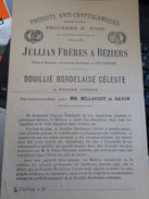 Dépliant Bouillie Bordelaise Céleste Jullian Béziers - Non Classés