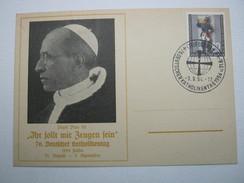 FULDA -  Katholikentag , 1954 , Sonderstempel Auf Karte Mit Guter Frankatur