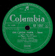 Tino Rossi Ma Joie + Oh Mon Papa 78 Tours Columbia (années 1950) - 78 T - Disques Pour Gramophone