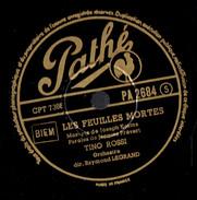 Tino Rossi Les Enfants Qui S'aiment + Les Feuilles Mortes 78 Tours Pathé (1952) - 78 T - Disques Pour Gramophone