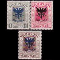 ALBANIA 1920 - Scott# 120-2 King Opt. 1-20q LH - Albanien