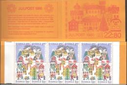 Sweden Sverige 1986 Christmas Mi 1409-1412 X 3 Hblatt 144 Booklet MH  117, MNH(**)