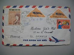 Viêt-Nam - Saigon  Lettre  Pour La France Année 1970 Bel Affranchissement Composé - Vietnam